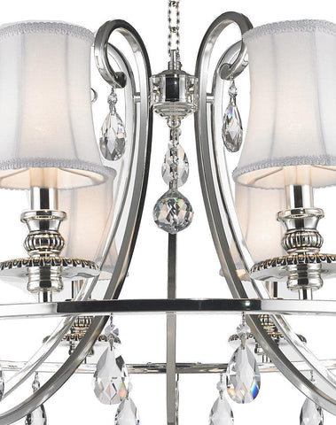 NewYork - Hampton Halo 10 Light Chandelier - Silver Plated - Designer Chandelier  NewYork - Hampton Halo 10 Light Chandelier - Silver Plated - Designer Chandelier