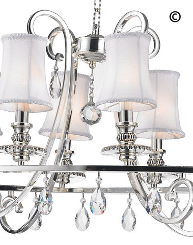 NewYork - Hampton Oval Halo 10 Light Chandelier - Silver Plated - Designer Chandelier  NewYork - Hampton Oval Halo 10 Light Chandelier - Silver Plated - Designer Chandelier