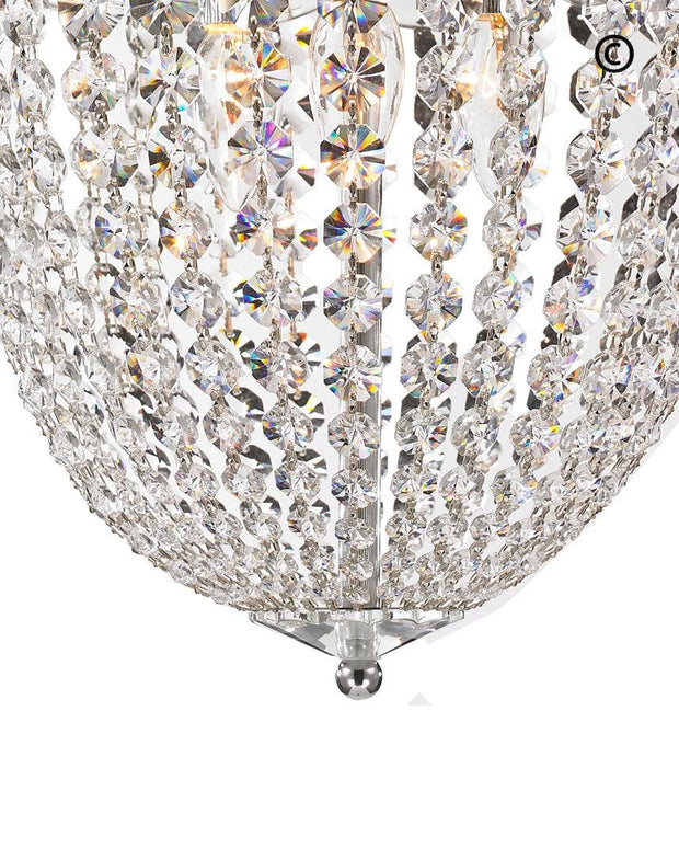 Bohemian Basket Chandelier - Width: 30 cm - Chrome Fixtures - Designer Chandelier