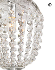 Bohemian Basket Chandelier - Width: 20 cm - Chrome Fixtures - Designer Chandelier