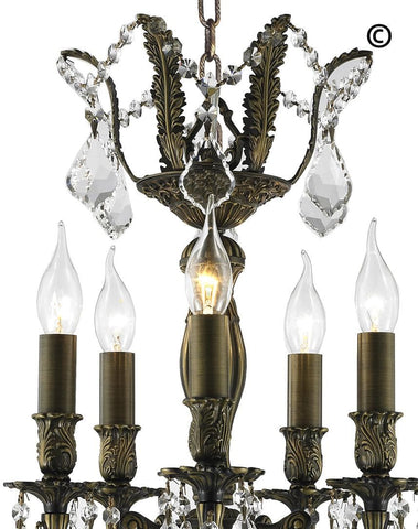 AMERICANA 5 Light Chandelier - Antique Bronze Style AMERICANA 5 Light Chandelier - Antique Bronze Style-Designer Chandelier Australia