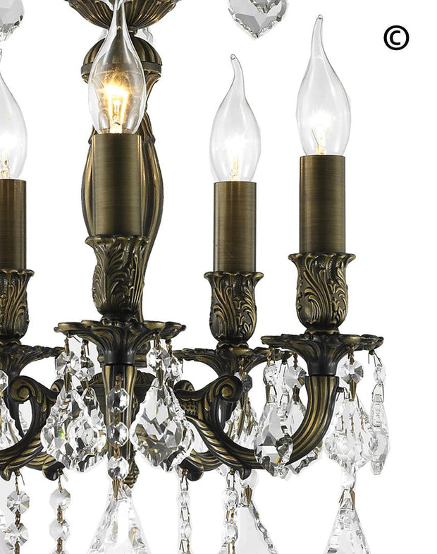 AMERICANA 5 Light Chandelier - Antique Bronze Style - Designer Chandelier