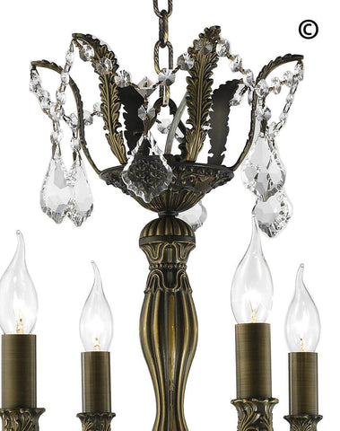 AMERICANA 6 Light Crystal Chandelier - Antique Bronze Style AMERICANA 6 Light Crystal Chandelier - Antique Bronze Style-Designer Chandelier Australia
