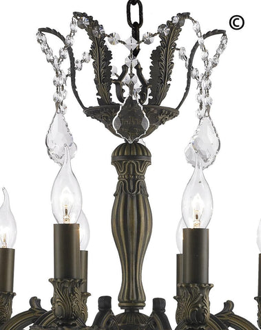 AMERICANA 12 Light Crystal Chandelier - Antique Bronze Style AMERICANA 12 Light Crystal Chandelier - Antique Bronze Style-Designer Chandelier Australia