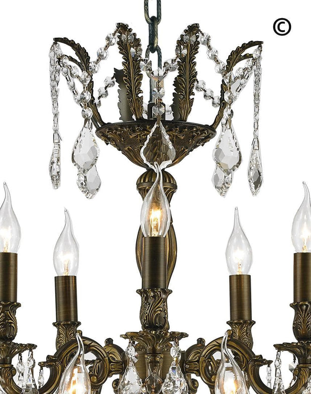 AMERICANA 15 Light Crystal Chandelier - Antique Bronze Style - Designer Chandelier