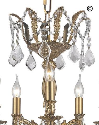 AMERICANA 15 Light Crystal Chandelier - Brass Finish AMERICANA 15 Light Crystal Chandelier - Brass Finish - Designer Chandelier