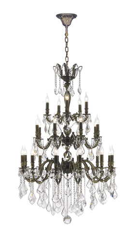AMERICANA 25 Light Crystal Chandelier - Antique Bronze Style AMERICANA 25 Light Crystal Chandelier - Antique Bronze Style