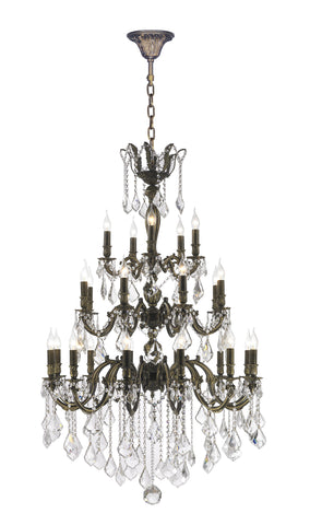 AMERICANA 25 Light Crystal Chandelier - Antique Bronze Style - Designer Chandelier  AMERICANA 25 Light Crystal Chandelier - Antique Bronze Style - Designer Chandelier