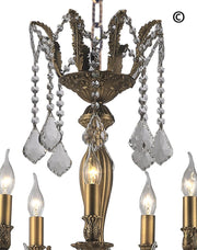 AMERICANA 25 Light Crystal Chandelier - Brass Finish - Designer Chandelier