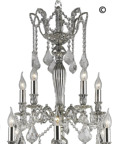 AMERICANA 25 Light Crystal Chandelier - Silver Plated AMERICANA 25 Light Crystal Chandelier - Silver Plated