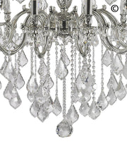 AMERICANA 25 Light Crystal Chandelier - Silver Plated - Designer Chandelier