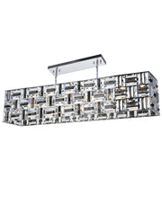 Aurora Bar Light - NewYork Rectangle Bar Chandelier - Length: 120cm - Designer Chandelier