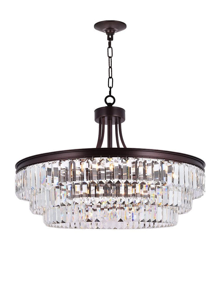 Jordan Collection - 70cm - Warm Bronze Finish - Designer Chandelier