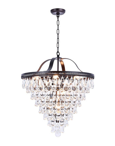 Grange Collection - Width: 60cm - Warm Bronze Finish - Designer Chandelier