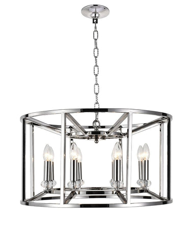 NewYork Alfa - 8 Light - Round - Nickle Plated - Designer Chandelier