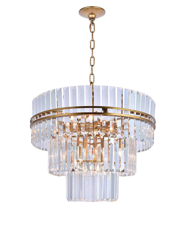 Ashton Collection - Three Tier - 68cm - Antique Gold Finish - Designer Chandelier