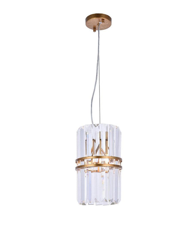 Ashton Collection - 20cm - Antique Gold Finish - Designer Chandelier