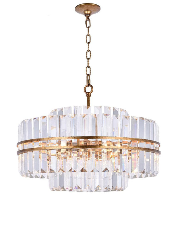 Ashton Collection - 55cm - Antique Gold Finish - Designer Chandelier