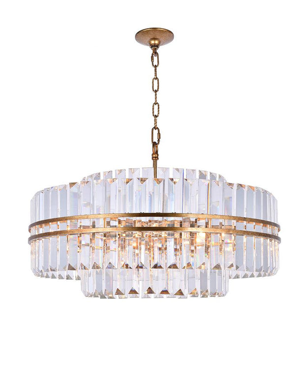 Ashton Collection - 68cm - Antique Gold Finish - Designer Chandelier