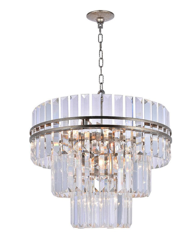 Ashton Collection - Three Tier - 50 cm - Champagne Finish - Designer Chandelier