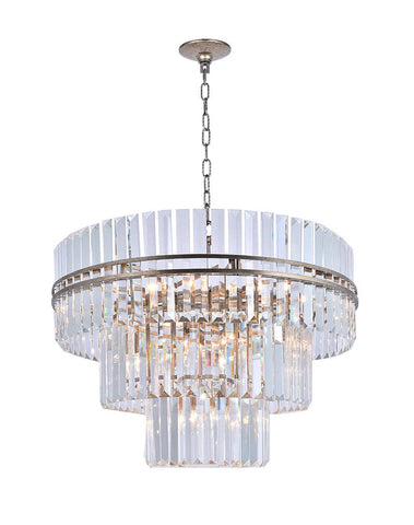 Ashton Collection - Three Tier - 80cm - Champagne  Finish - Designer Chandelier