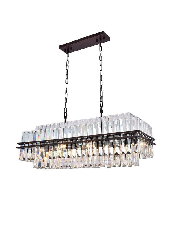Ashton Collection - 90 cm Bar Light - Warm Bronze Finish - Designer Chandelier