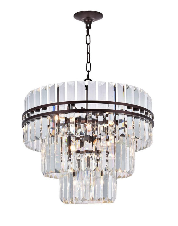 Ashton Collection - Three Tier - 50 cm - Warm Bronze Finish - Designer Chandelier