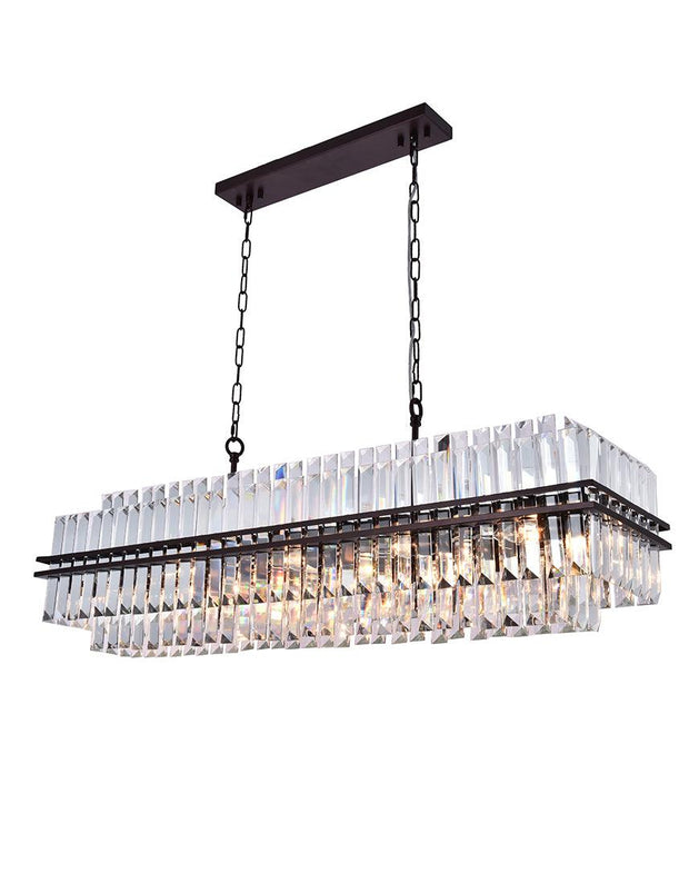 Ashton Collection - 120 cm Bar Light - Warm Bronze Finish - Designer Chandelier