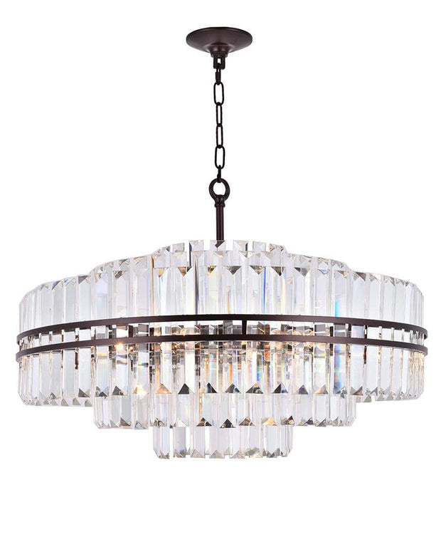 Ashton Collection - 80cm - Warm Bronze Finish - Designer Chandelier