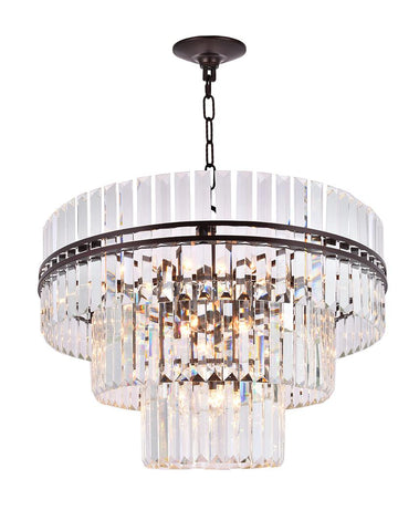 Ashton Collection - Three Tier - 80cm - Warm Bronze Finish - Designer Chandelier