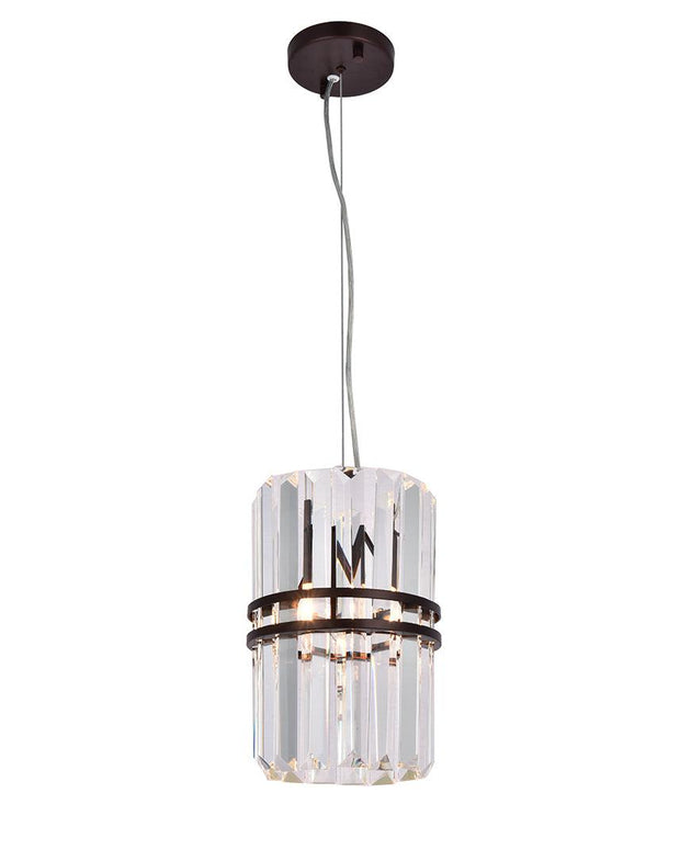 Ashton Collection - 20cm - Warm Bronze Finish - Designer Chandelier