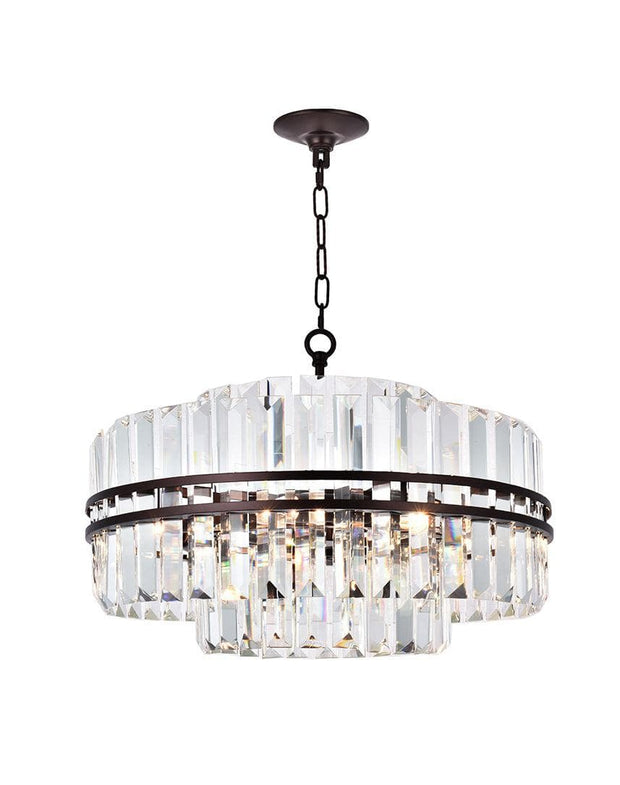 Ashton Collection - 55 cm - Warm Bronze Finish - Designer Chandelier