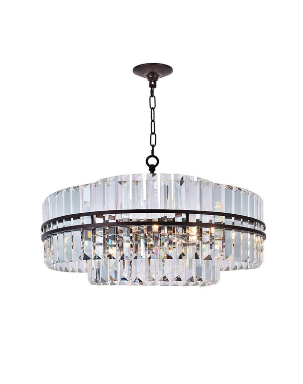 Ashton Collection - 68cm - Warm Bronze Finish - Designer Chandelier