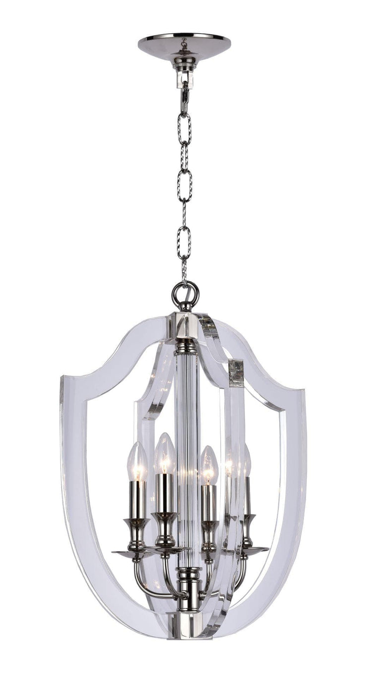 NewYork Lantern 4 Light - Polished Nickel Finish - Designer Chandelier