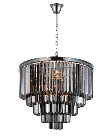 Odeon (Oasis) Chandelier- 5 Layer - Smoke Finish - W:70cm