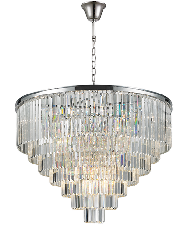 Odeon (Oasis) Chandelier- 7 Layer - Clear Finish - W:100cm
