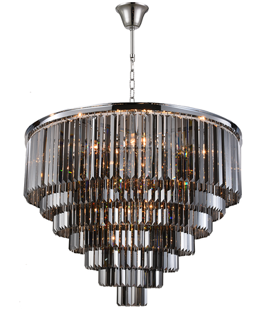 Odeon (Oasis) Chandelier- 7 Layer - Smoke  Finish - W:100cm - Designer Chandelier