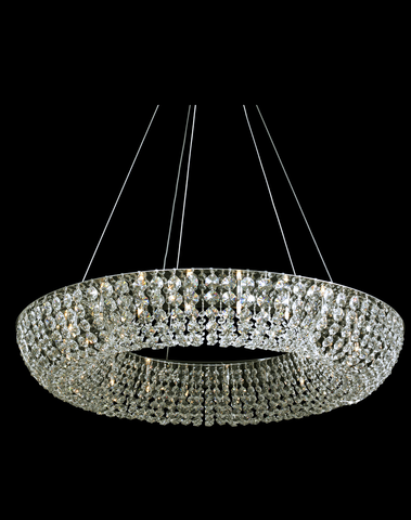 Platinum Ring Chandelier- W:80cm