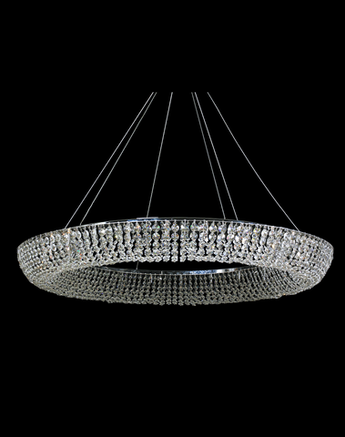 Platinum Ring Chandelier- W:120cm