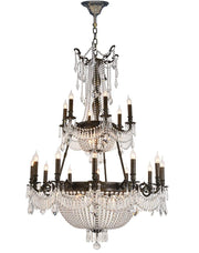 Regency Basket Chandelier Double Layer -  Antique Bronze Style - W:100cm - Designer Chandelier