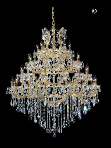 Maria Theresa Crystal Chandelier Grande 48 Light- GOLD