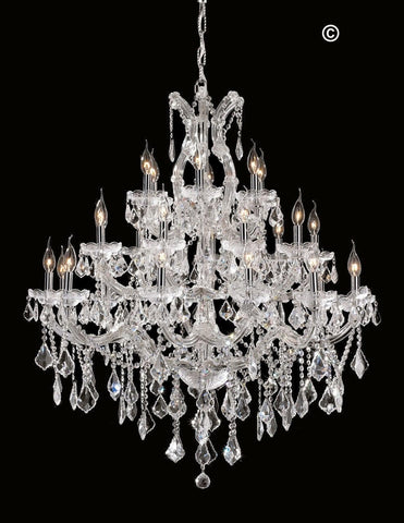 Maria Theresa Crystal Chandelier Grande 28 Light - CHROME