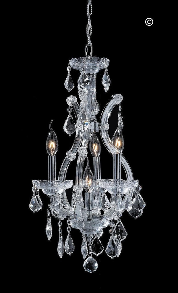 Maria Theresa Basket Crystal Chandelier - CHROME - Designer Chandelier