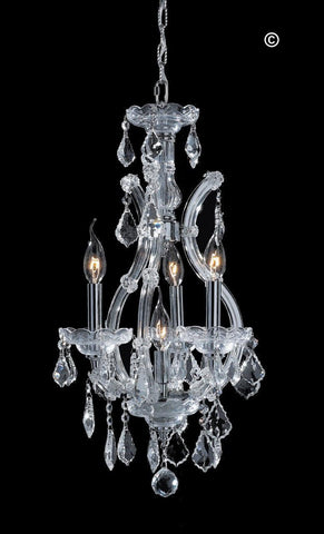 Maria Theresa Basket Crystal Chandelier - CHROME