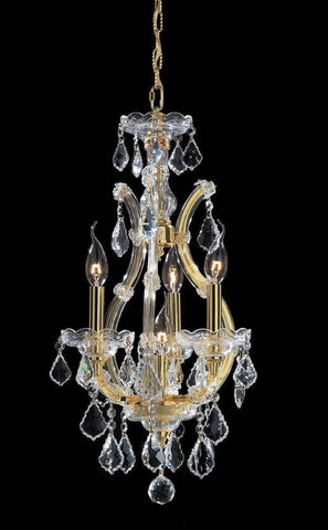 Maria Theresa Basket Crystal Chandelier - GOLD