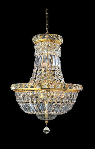 Empress Crystal Basket Chandelier - GOLD - 5 Light-Designer Chandelier Australia