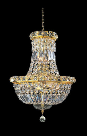 Empress Crystal Basket Chandelier - GOLD - 5 Light - Designer Chandelier