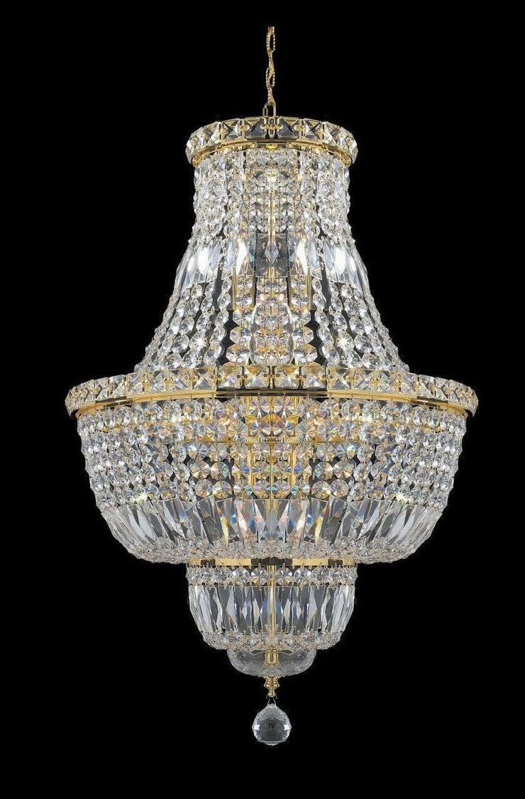 Empress Crystal Basket Chandelier - GOLD 12 Light - Designer Chandelier