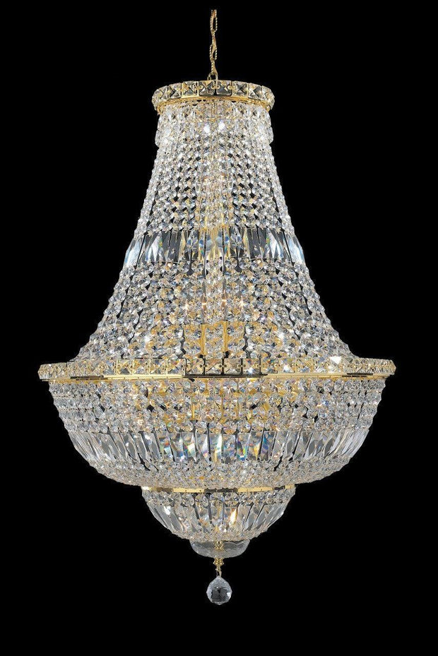 Empress Crystal Basket Chandelier - GOLD - 15 Light - Designer Chandelier