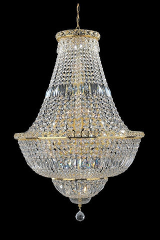 Empress Crystal Basket Chandelier - GOLD - 15 Light-Designer Chandelier Australia